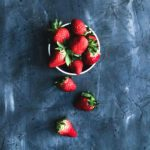 The best DIY food photography backdrop dark grey and blue