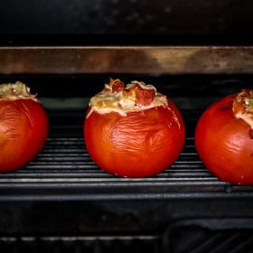 grilled tomatoes on the grill