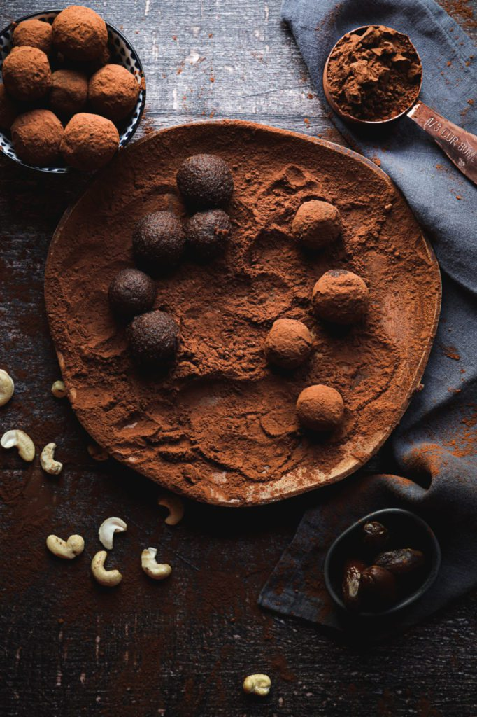 Chocolate brownie bliss balls, healthy chocolate recipe