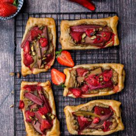 Strawberry-Rhubarb Pastry Tarts