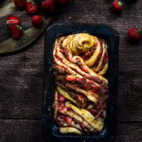 brioche recipe , babka, saffron ,strawberries